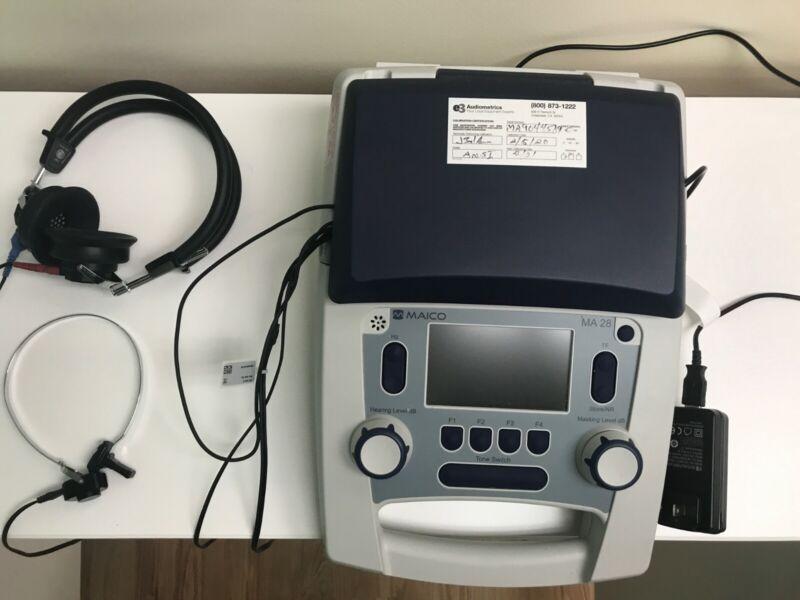 New Audiometer Maico MA28 Air Bone Conduction Screening Diagnostic Portable