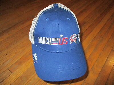 Columbus Blue Jackets Hat Hockey March With Us Fox Sports Go Meshback Trucker Os