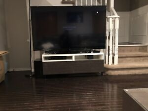 Modern TV Stand with 2 shelves and 2 Drawers