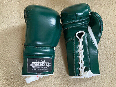 TopBoxer Win1 Series Boxing Gloves - 16 oz - Green - BRAND NEW