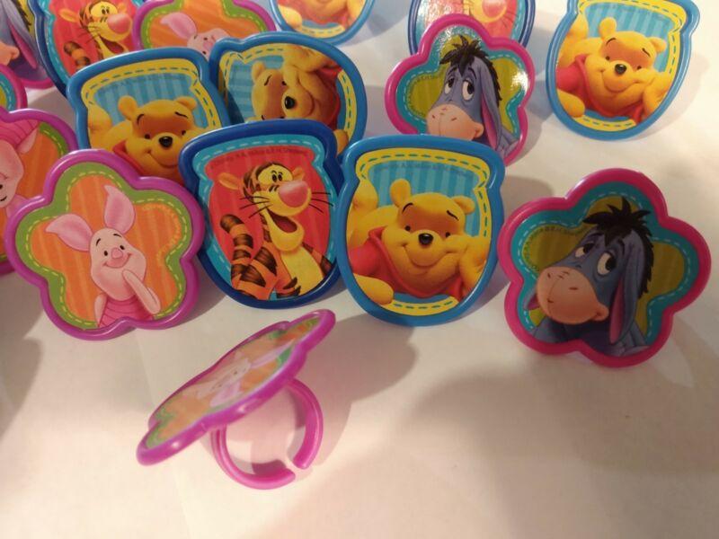 Winnie the Pooh Eeyore Tigger & Piglet (60) Cupcake Topper Decoration