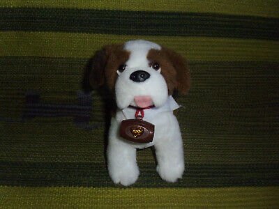 "Elf Pets plush Saint Bernard puppy dog barrel stuffed toy Elf On The Shelf 7"""