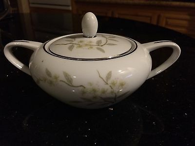 BARKER BROTHERS Japan Porcelain China Sugar Bowl Flowers 63-293P