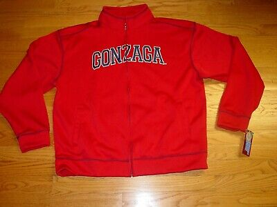 Mens XL Gonzaga Bulldogs Campus Drive NCAA Full Zip Track Jacket Red Sweatshirt  Gonzaga Bulldogs Jacket