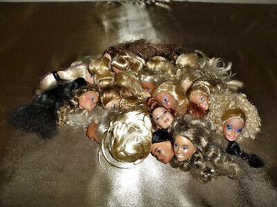 Lot of 22 Random Mattel Barbie Styling Makeup Head Girl Toys