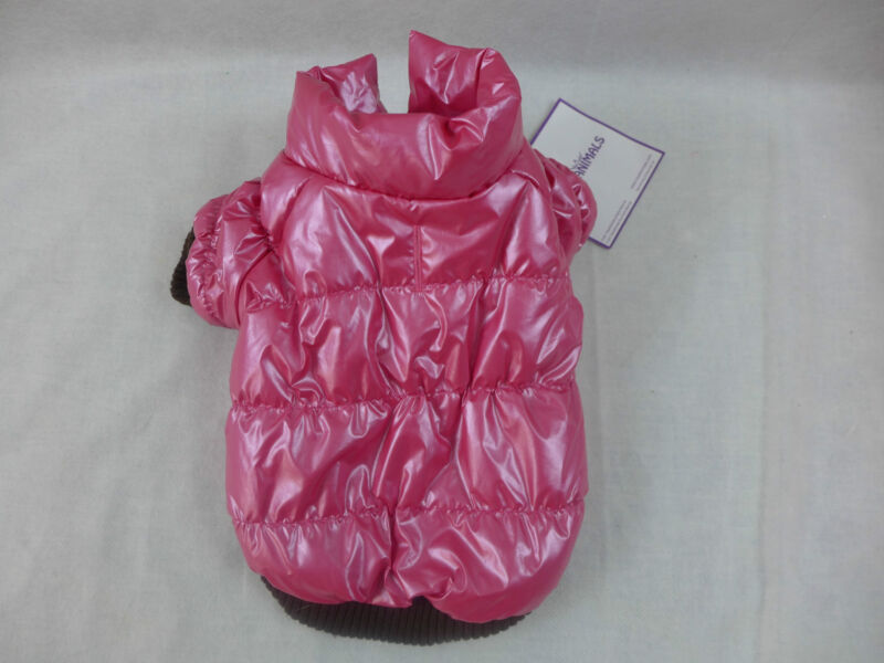Dog Coat Fancy Puffy Coat Fleece Lined Warm Pink New