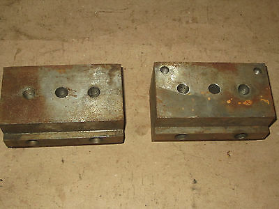 2 Bridgeport Mill Stop Block Fixtures 3 X 3 X 5-58 T-slot Table Angle Plate