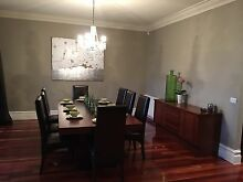 BEAUTIFUL LARGE SOLID TIMBER DINING TABLE WITH 8 chairs + SIDEBOARD Glen Huntly Glen Eira Area Preview