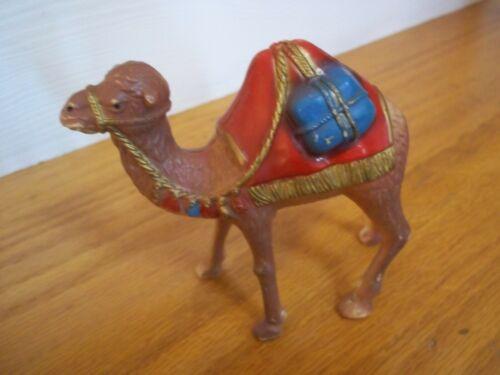 "Vintage Celluloid plastic Nativity Scene Christmas Camel 4.5 x 4.5"""