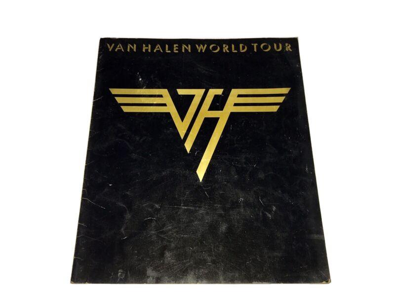 Van Halen 1979 Tour Book 1st One Ever Eddie David Lee Roth Alex Michael Anthony