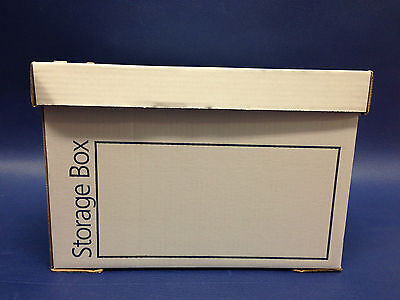 10 STRONG CARDBOARD ARCHIVE BOXES A4 - 15