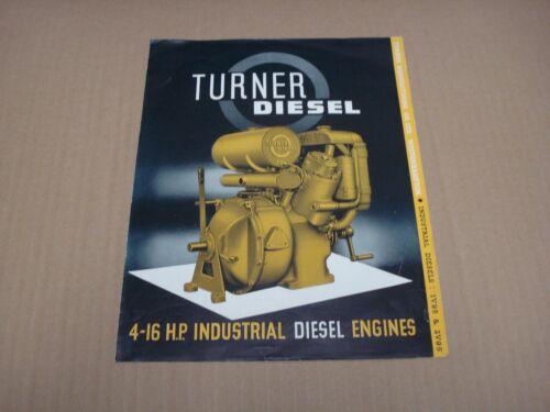 Turner Industrial Diesel Engines Brochures