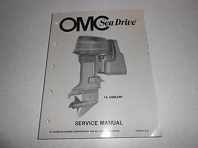 1989 GENUINE OMC SEA DRIVE 16 AMRARF Boat Repair & Service Manual 507762