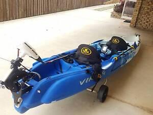 """Kayak Viking Fisherman  2 """"Tempo"""" Dual & Minn Koto Electric Motor Golden Beach Caloundra Area Preview"""