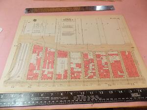 Original 1934 12x17 NYC New York City Manhattan Atlas Map Hells Kitchen EBay