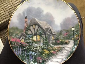Thomas Kinkade 1991 Chandler's Cottage Collectors Plate-reduced