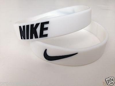 Nike Sport Baller Band Silicone White w/Black logo Buy 3 get 2 Free or Buy 2 ge