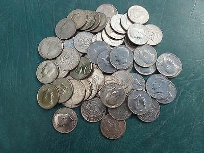 Kennedy Half Dollars (.50 cent piece)  Lot of 100  Variety of Dates