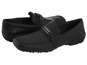 Calvin-Klein-Mens-Benson-Black-Slip-on-Business-Casual-Bit-Loafers-Shoes