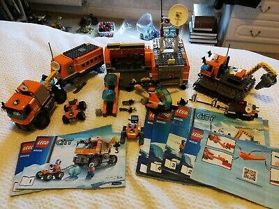 Lego City 60035 Arctic Outpost & 60036 Arctic Base Camp with instructions.