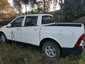 Ssangyong Actyon utes (2)  1 complete car needs injectors replace Williamtown Port Stephens Area Preview