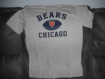 New NFL Chicago Bears Youth Large 14/16 Team Apparel T-Shirt Football Gray