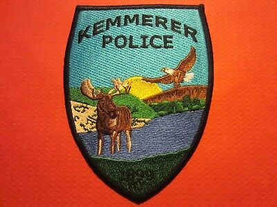 Collectible Wyoming Police Patch, Kemmerer, New