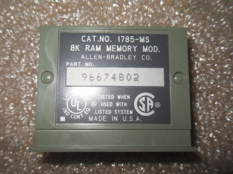 (U3-1) 1 ALLEN BRADLEY 1785-MS 96674802 8K RAM MEMORY MODULE