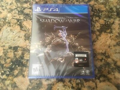 Middle Earth  Shadow Of War  Sony Playstation 4  2017 Brand New  Factory Sealed