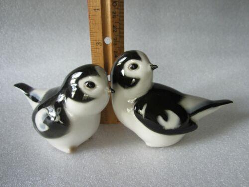 Super Cute Vintage Lomonosov Soviet Russia Porcelain Love Bluebirds Figurines