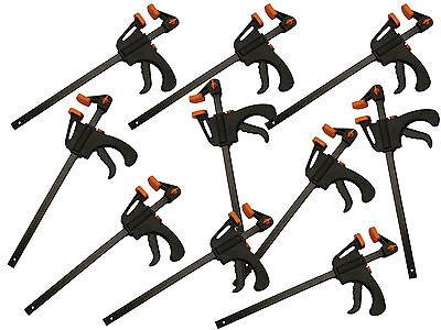 10 Stück Einhandzwinge 40mmx100mm Schnellspannzwinge Klemmzwinge Zwinge 003604-0