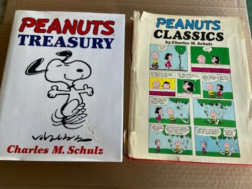 LOT of 2 Peanuts Treasury & CLASSICS By Charles M Schulz Hardcover Books