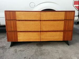 Eliel saarinen art deco streamline moderne 6 drawer chest for R way bedroom furniture
