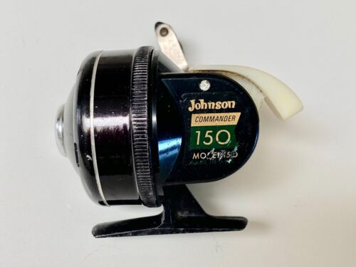 Johnson Commander 150 Accu-Cast Spincast Fishing Reel. USA. Excellent Condition.