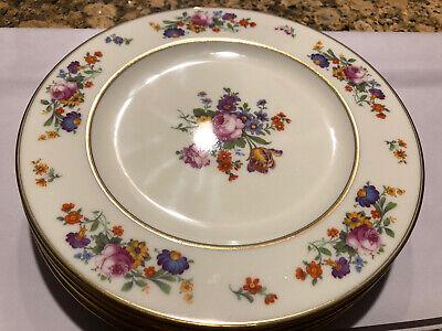 """6 Vintage Coxon Belleek Floral Bouquet Dinner Plates Great Condition 10 1/2"""""""