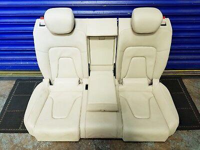 AUDI A5 8T 07-16 COUPE 2 DOOR REAR BENCH SEATS + HEADREST CREAM LEATHER