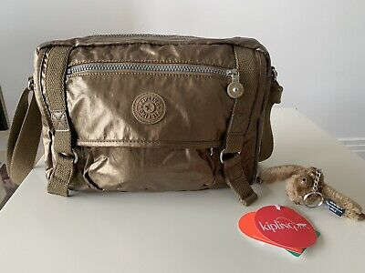 KIPLING GRACY Lightweight crossbody bag - Lacquer Bronze