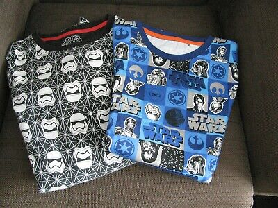 STAR WARS Pyjama's - 2 Sets- Size 13-14 Years - Used