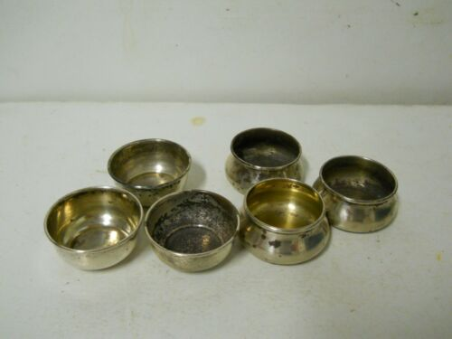 x6 Sterling Silver Salt Cellars Frank Whiting 5532 & Unmarked