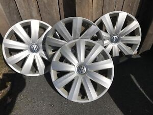One complete set of four VW wheel covers
