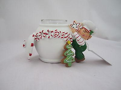 Yankee Candle 2012 Santas 'Lil Helper Elf Cookie Jar Votive Holder V/H 1238587   Santas Lil Elf