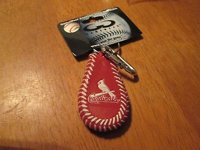 GENUINE BASEBALL LEATHER ST.LOUIS CARDINALS  BIRD KEY CHAIN
