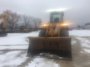 Loader with plow