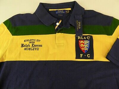 Polo Ralph Lauren SS PRL Lion Football Club Athletic Div. Rugby Shirt $125 NWT
