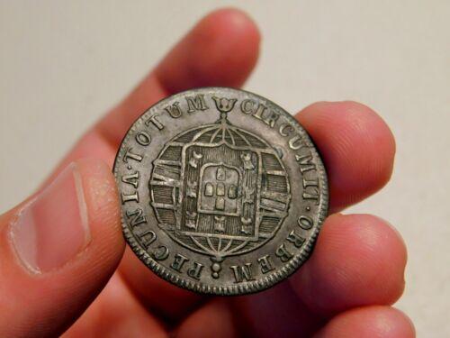 Scarce 1820 R Brazil 20 Reis, AU/UNC, Nice!!!