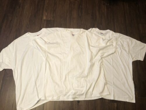 Lot Of 3 VTG 90s Hanes Heavyweight 50/50 Blank White T Shirt