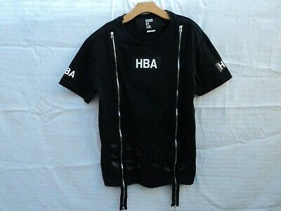 RARE HBA Hood By Air Double Zipped Shirt Black Color in Size Small Nice Tee!