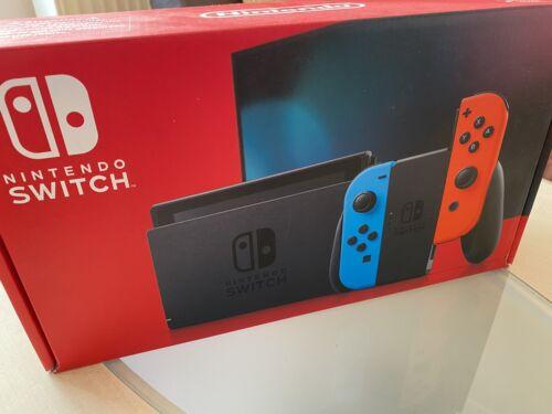 Nintendo Switch Konsole - Neon-Rot / Neon-Blau (2019 Edition) NEU & OVP !!
