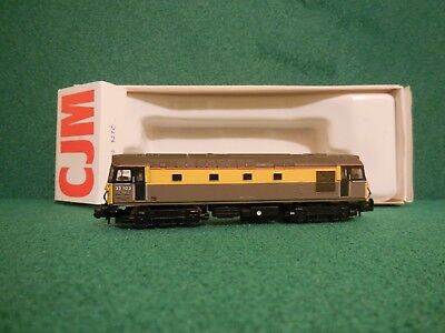 "N Gauge Genuine CJM / Farish Class 33/1 BR Civil Engineers ""Dutch"" livery"