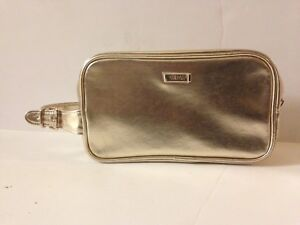 VERSACE Never Used Gold Cosmetic Bag EXCELLENT CONDITION
